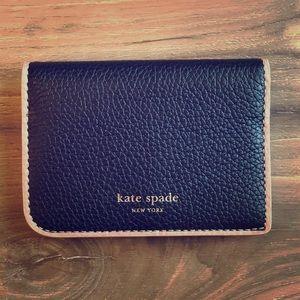 Kate Spade Bifold Card Case ~ Black